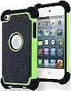 ユニークなデザイン iPod Touch4 第4世代 ケース/カバー ipod touch 4用シリコンケース (グリーン)