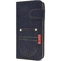 PLATA AQUOS R SH-03J / SHV39 / 605SH ケース 手帳型 デニム デザイン ポケット アクオスr 手帳カバー ジーンズ  DSH03J-63A-A