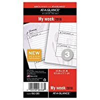 AT-A-GLANCE Day Runner Weekly Planner Refill January 2018 - December 2018 3-3/4 x 6-3/4 Loose Leaf Size 3 Nature (063-385) [並行輸入品]