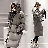 (R&S ファッション)レディース トップス アウター 中綿 フード付き スリム ロングコート ベンチコート