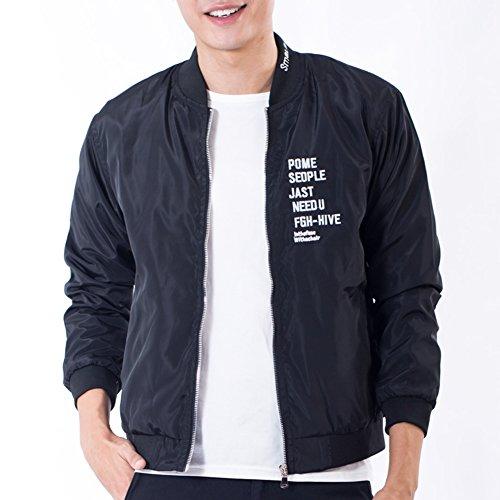 (マンロタンニ)MANLUODANNI メンズ ジャケット Jacket Men Zipper Casual Coat Outdoor 4Colors Plus Size 4XL J27 (M, ブラック)