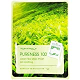 (3 Pack) TONYMOLY Pureness 100 Green Tea Mask Sheet Skin Soothing (並行輸入品)