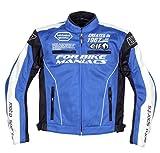 エルフ(ELF) バイクジャケット メッシュブルゾン ブルー L EL-7225