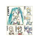 ピアプロキャラクターズ トレーディング Ani-Art ミニ色紙 BOX商品 1BOX=6個入、全6種類