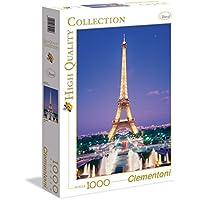 1000ピース ジグソーパズル Clementoni フランス パリ エッフェル塔 Eiffel Tower, Paris 48×68cm 39122