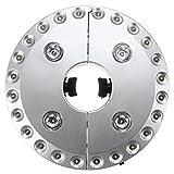KINGSO 28LED太陽傘用ワイヤレスポータブルアウトドア夜間照明LEDライト 屋外活動/バーベキュー/キャンプ/カー/ガーデンパラソル/テント照明用円形UFOライト電池式ピュアホワイト(銀シェル)