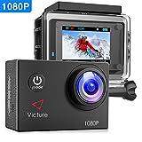 Victure アクションカメラ 1200万画素 1080P フルHD 170度広角 1050mAh電池 30M防水 複数部品 ドラレコ機能