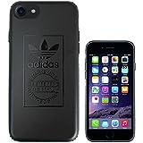 adidas ジャージ TeamS(チームエス) adidas アディダス iPhone7 ケース ブランド ハード スマホケース アイホン7 ケース normal ノーマル ブラック 「当店オリジナルフィルム付き」 [並行輸入品]