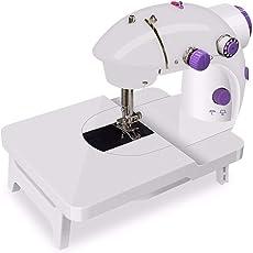 TNSO電動ミシン ハンドミシン小型 2段階スピード ワイドテーブル付き初心者家庭用ミシン