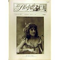 Woman Old Print 1896 の肖像画のトロッコcraske の女性