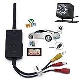 MIFO WIFI バックカメラ セット iPhone など スマホ 、 タブレット 対応 防水仕様 広角 映像ケーブル 付き 有線 / 無線 両方 対応 HR-WBK903-BK801