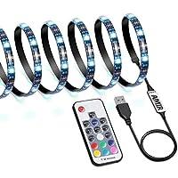 升级版 AMIR LED テープライト TVバックライト テレビ PC照明 目の疲れを取る USB接続 リモコン操作 強粘着両面テープ仕様 カラー選択 切断可能 防水防塵 (スタイルB)