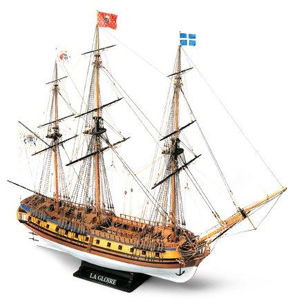 (1164)輸入木製帆船模型 マモリ社 MV34 ラ・グロアール