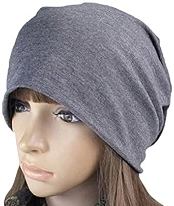 【抗がん剤治療】【医療用帽子】【ケア帽子】 深め シンプル3カラー (グレー)