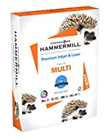 (1 Ream, 24Lb Ink - Laser) - Hammermill Paper, Premium Inkjet & Laser Multipurpose Paper, 8.5 x 11 Paper, Letter Size, 11kg Paper, 97 Bright, 1 Ream / 500 Sheets (166140R) Acid Free Paper (Packaging may vary)