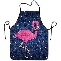 The Cute Beautiful Pink Flamingo BBQ Kitchen Cooking Apron
