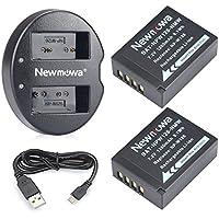 Newmowa NP-W126 NP-W126S 互換バッテリー 2個+USB 急速充電器 対応機種 Fujifilm NP-W126 NP-W126S Fujifilm X-H1 Fuji FinePix HS30EXR HS33EXR HS50EXR X-A1 X-A3 X-E1 X-E2 X-E3 X-M1 X-Pro1 X-Pro2 X-T1 X-T2 X-T10