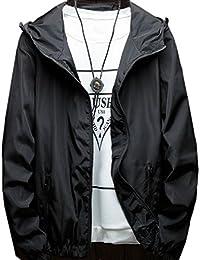 chenshiba-JP メンズ?カジュアルジャケット軽量フードジャケットコート