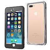 ERUM iPhone 6s plus 携帯ケース アイフォンケース5m完全防水 防塵 耐衝撃ケース (黑 透明)