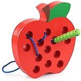 Loobani モンテッソーリ教育 木のおもちゃ リンゴ 迷路 幼児と子供教材 木製 早期 知育玩具 子どもの思考力 パズル 脳 子供用 女の子 男の子 誕生日 クリスマス プレゼント
