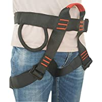 Rock Climbing Harness - Protect Waist Safety Harness, Wider Half Body Harness for Mountaineering, Tree Climbing, Outdoor Activities, Training - Premium Quality Durable Material- - Slotted Buckles