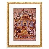 Ikone, athiopisch 「Moses mit den Gesetzestafeln.」 額装アート作品