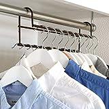 ハンガー 衣類収納アップハンガー 2本組 (ブラウン)
