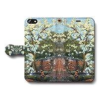iPhone5 iPhone5s SE アンリ ル シダネル 桜の木の下で スマホケース 手帳型 全機種対応 ケース 人気 絵画 TPU レザー 個性的 あいふぉん