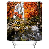 BMY ポリエステル絶縁防水型バスルームカーテンカーテンカーテンカーテン(任意サイズ)(2色オプション)さびない(色:B、サイズ:200 * 180 CM)