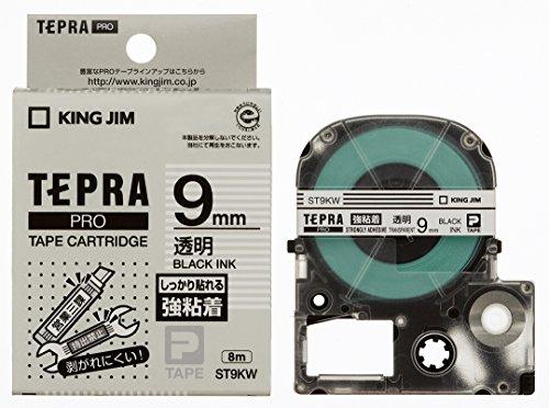 キングジム テープカートリッジ テプラPRO 強粘着 9mm ST9KW 透明