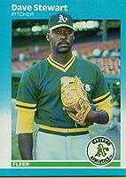 野球MLB 1987Fleer # 406Dave Stewart Athletics