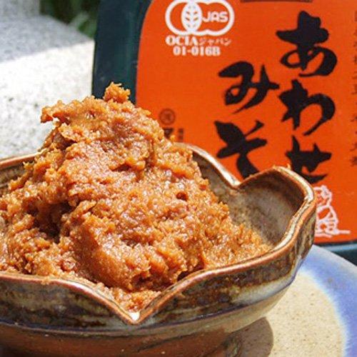 マルカワみそ 無添加有機生味噌 合わせ味噌600g 天然麹菌使用の有機味噌