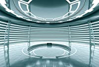 Leyiyi 10x6.5フィート 写真撮影用背景 宇宙ステーション 背景 ユニバースユニット 宇宙船 未来的 オフィス 科学実験 窓 ワンダー 探検 エネルギー 子供 誕生日 写真 ポートレート ビニール スタジオ小道具