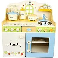 子供木製おもちゃ〈豪華なキッチン自負する遊び〉キッチン遊びはセットする