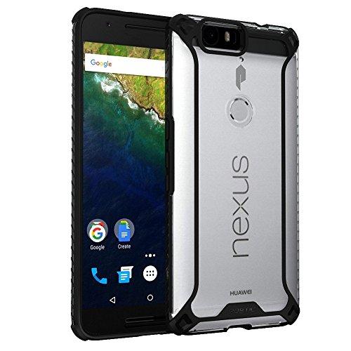 Nexus 6P ケース Poetic [Affinityシリーズ] ネクサス シックス P 黒 / 透明 衝撃吸収 TPU グリップ カバーケース コーナープロテクション Google Nexus 6P (2015) 対応 ハイブリッドケース (3年保証)