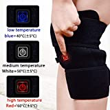 Electric Heated Knee Brace Wrap 3-Speed Temperature Adjustment Ideal for Recovery of Knee Injury Cramps Arthritis Muscles Pain (1 Pair)