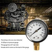 プロフェッショナル1305 0-100 PSI 1/4インチNPT男性用井戸水ポンプ水圧計空気圧計TS50-100PSI