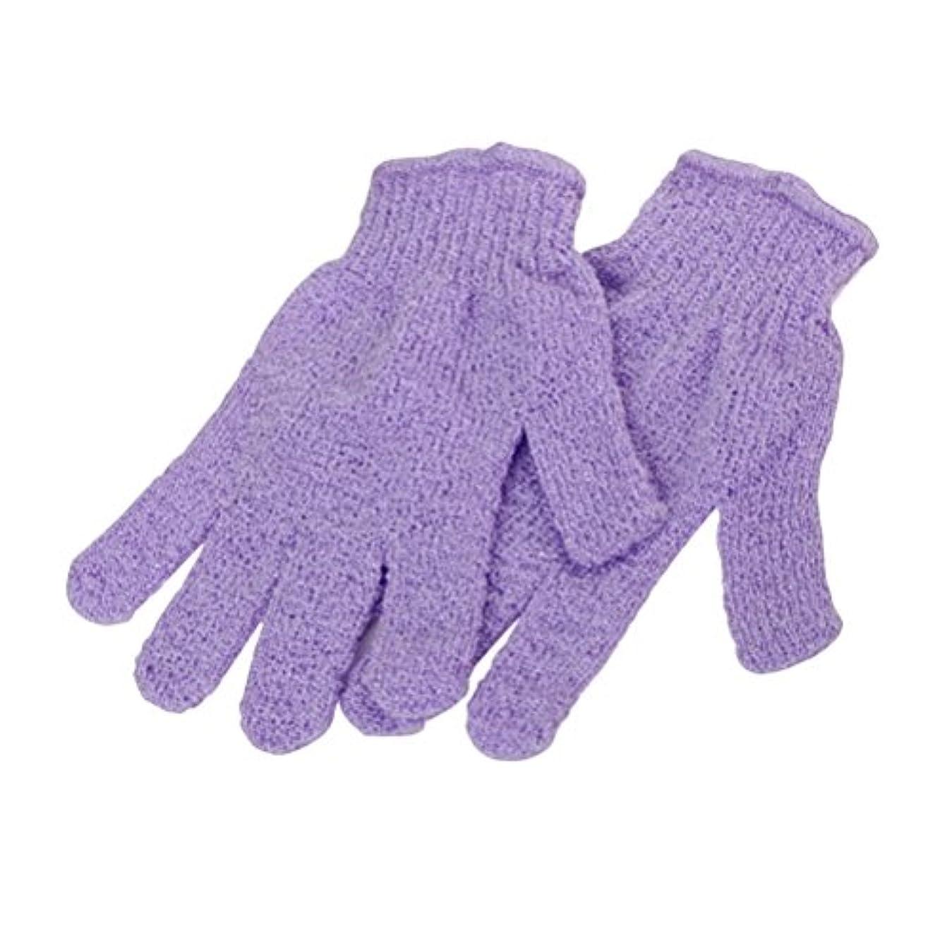 第四傾いた階下SUPVOX 2対のシャワー用手袋浴体剥離手袋(ランダムカラー)