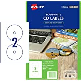 Avery White CD Labels for Laser Printers, 117 mm Diameter, 50 Labels (960101 / L7676)