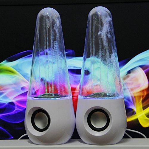 [해외]LED 라이트 스피커 bluetooth 음악에 맞춰 춤 PC 스피커 USB 스피커 음악 분수 춤 워터 쇼 iphone ipad 용 스마트 폰~ MP3~ PC~ 휴대용 게임기~ 휴대 전화 대응 2 개 세트 (화이트)/LED Light Speaker bluetooth Dancing to the sound PC Speaker US...