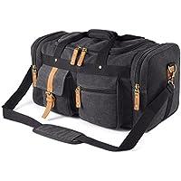 Plambag Oversized Canvas Duffel Bag Overnight Travel Tote Weekender Bag