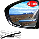 Blind Spot Mirror Square Convex Rear View Mirror 360 Degree Rotate Wide Angle Mirror Adjustable for All Universal Vehicles Car (Pack of 2) (blind spot mirror)