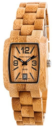 Tense Bamboo Mens Wood Watch Day Time Jumbo j8102b lfln