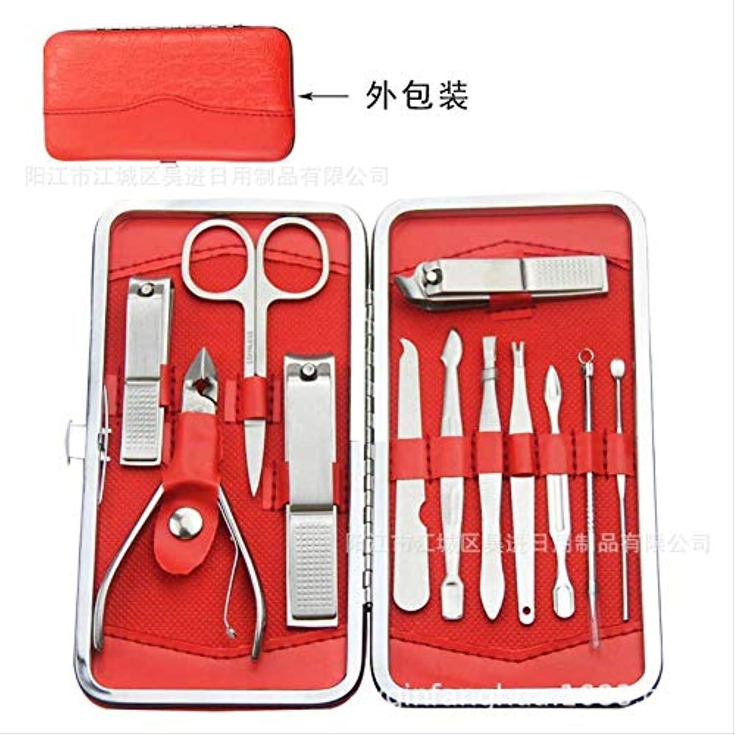 以来アブストラクト緊張する爪切りセット12ステンレス鋼爪切りセット美容マニキュアツール爪切り爪やすり Zhenghong高級ステンレス鋼12ピースセット