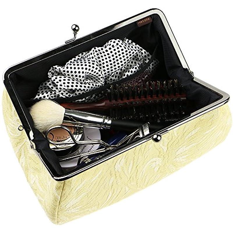 watona ジャガード 化粧ポーチ(スリム)50-55sh (5.5寸 スリムサイズ, たまごいろ)