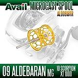 【Avail/アベイル】 シマノ 09アルデバランMg・10スコーピオンXT1000 スプール Microcast Spool 【ALD0918TR】 ゴールド