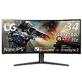 LG ゲーミングモニター ディスプレイ 34GK950F-B 34インチ/3440×1440ウルトラワイド/Nano IPS/FreeSync2/HDR400/HDMI×2・DP/高さ調節、ピボット