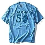 LOCAL MOTION(ローカルモーション) プリント半袖Tシャツ(ALOHA) smt-5102 大きいサイズ メンズ[並行輸入品]【102.サックス-XXL】