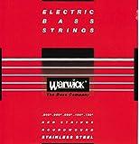 WARWICK ワーウィック エレキベース弦 5弦セットステンレス 42300 RED Strings  Medium Light Low B 040/130