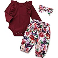 KANGKANG Newborn Baby Girl Clothes Flare Sleeve Romper + Floral Short Pants 2pcs Summer Outfit Set 0-18Months